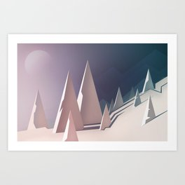 Winter trees landscape Art Print