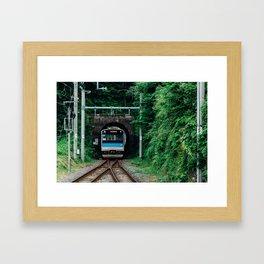 Tunnel Train Framed Art Print