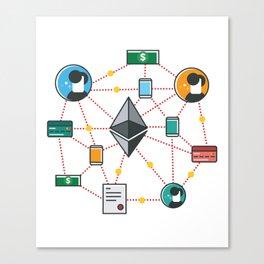 Ethereum Transactions Canvas Print
