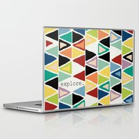 explore Laptop & iPad Skins featuring explore. by Sharon Turner