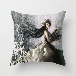 Paperdress Throw Pillow