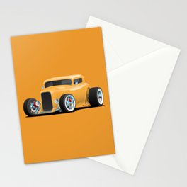 Classic American 32 Hotrod Car Illustration Stationery Cards
