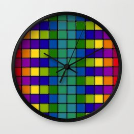 Out of Focus Chex Wall Clock