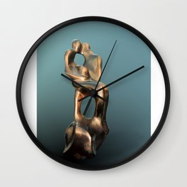 Late Pregnancy by Shimon Drory Wall Clock