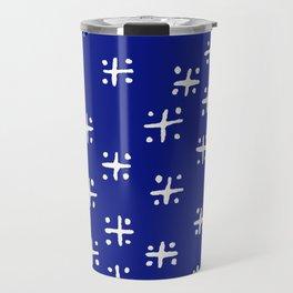 Mudcloth Blue Travel Mug