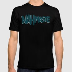 Nahmaste MEDIUM Black Mens Fitted Tee