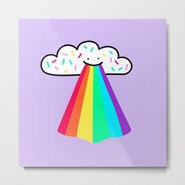 Rainbow Blast Metal Print
