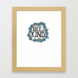 Bee Kind Framed Art Print