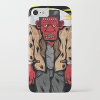 frankenstein iPhone & iPod Cases featuring Frankenstein by Pancho the Macho