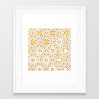 pivot Framed Art Prints featuring Pivot Star Pattern  by Pivot Interiors