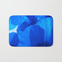 Blue Poppies #decor #society6 #buyart Bath Mat