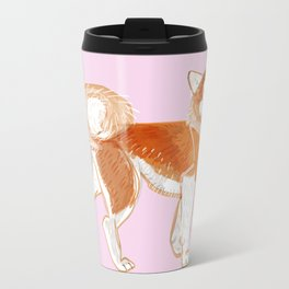 Japanese Dog Breeds: Akita Inu Metal Travel Mug
