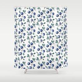 Blackthorn Blue Berries Shower Curtain