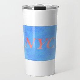 New York Print Travel Mug