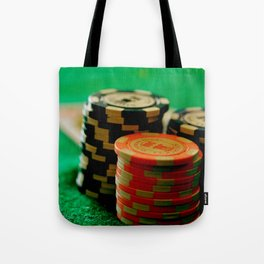 Casino Chips Stacks-Color Tote Bag