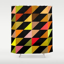 Geometric Pattern #15 (autumn triangles) Shower Curtain