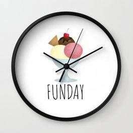 Sundae Funday Wall Clock