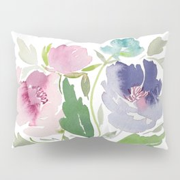 Purple and Pink Peonies Pillow Sham