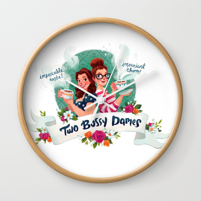 Two Bossy Dames Wall Clock