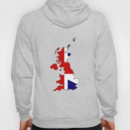 United Kingdom Map and Flag Hoody