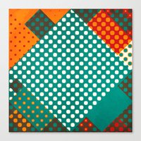 dots Canvas Prints featuring Dots by SensualPatterns