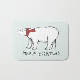 Christmas Polar Bear Bath Mat