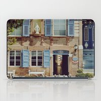 jewish iPad Cases featuring Blue Shutters in the Sun by Brown Eyed Lady
