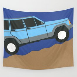 Blue SUV Wall Tapestry