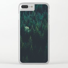 Dark Nordic Forest Clear iPhone Case