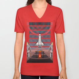 Space Tourism  Unisex V-Neck