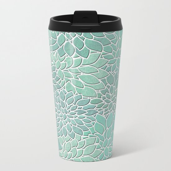 Floral Abstract 28 Metal Travel Mug