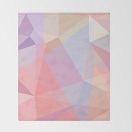 Powder Geometry - bright Throw Blanket