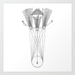 Solar phases Art Print