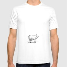 Pig Mens Fitted Tee White MEDIUM