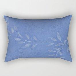 Blue Ivy Vine - Pretty - Rustic - Floral Rectangular Pillow