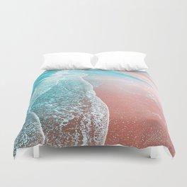 Sea Blue + Rose Gold Duvet Cover