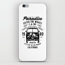 summer paradise catch the waves iPhone Skin