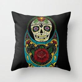 Mexican Matryoshka Throw Pillow