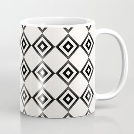 Marrakesh Geometric Black and White Squares Coffee Mug