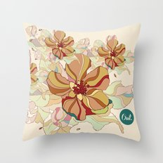 out flowers Throw Pillow