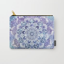 FREE YOUR MIND in Blue Carry-All Pouch