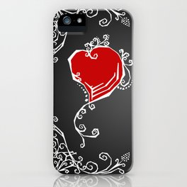 Gothic Hearts Sketch iPhone Case