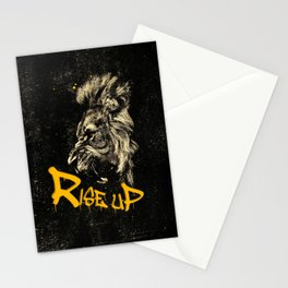 Rise Up - Roaring Lion Revolution Art Stationery Cards
