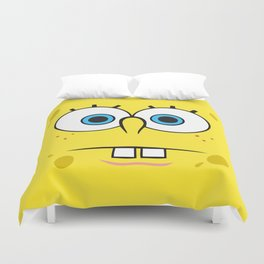 Spongebob Surprised Face Duvet Cover