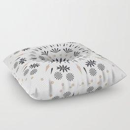 Snowflakes Scandic Nordic Floor Pillow