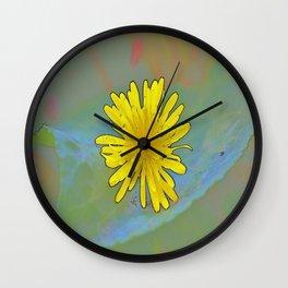 Cartoonish Dandelion Wall Clock