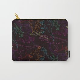 Psychedelic Dino Carry-All Pouch