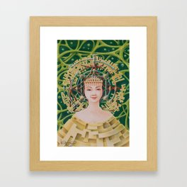 """Portrait with golden headpiece"" Framed Art Print"
