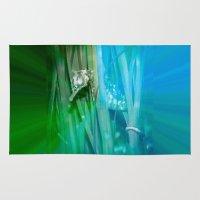 psychadelic Area & Throw Rugs featuring Psychadelic Seahorse by Heidi Fairwood