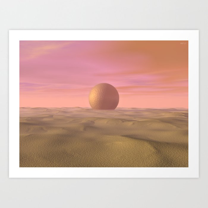 Desert Dream of Geometric Proportions Art Print